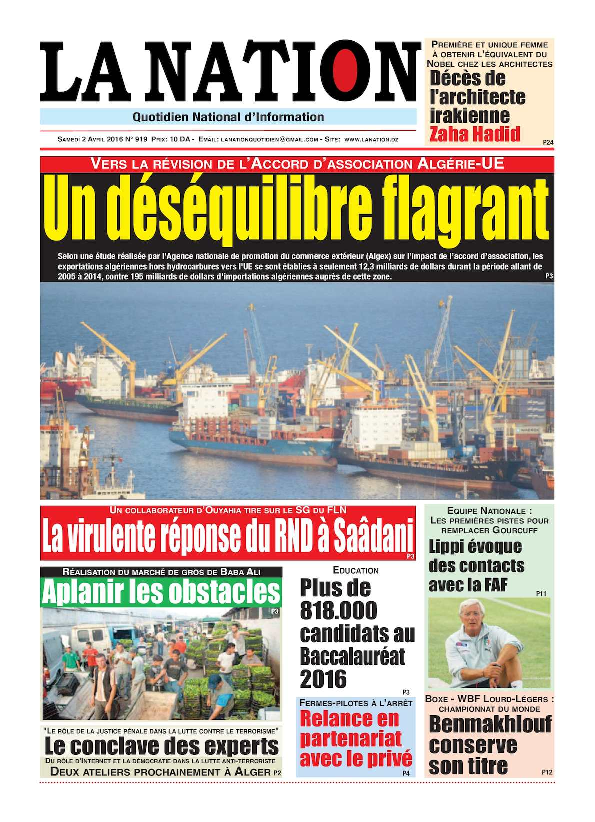 La Nation Edition N 919
