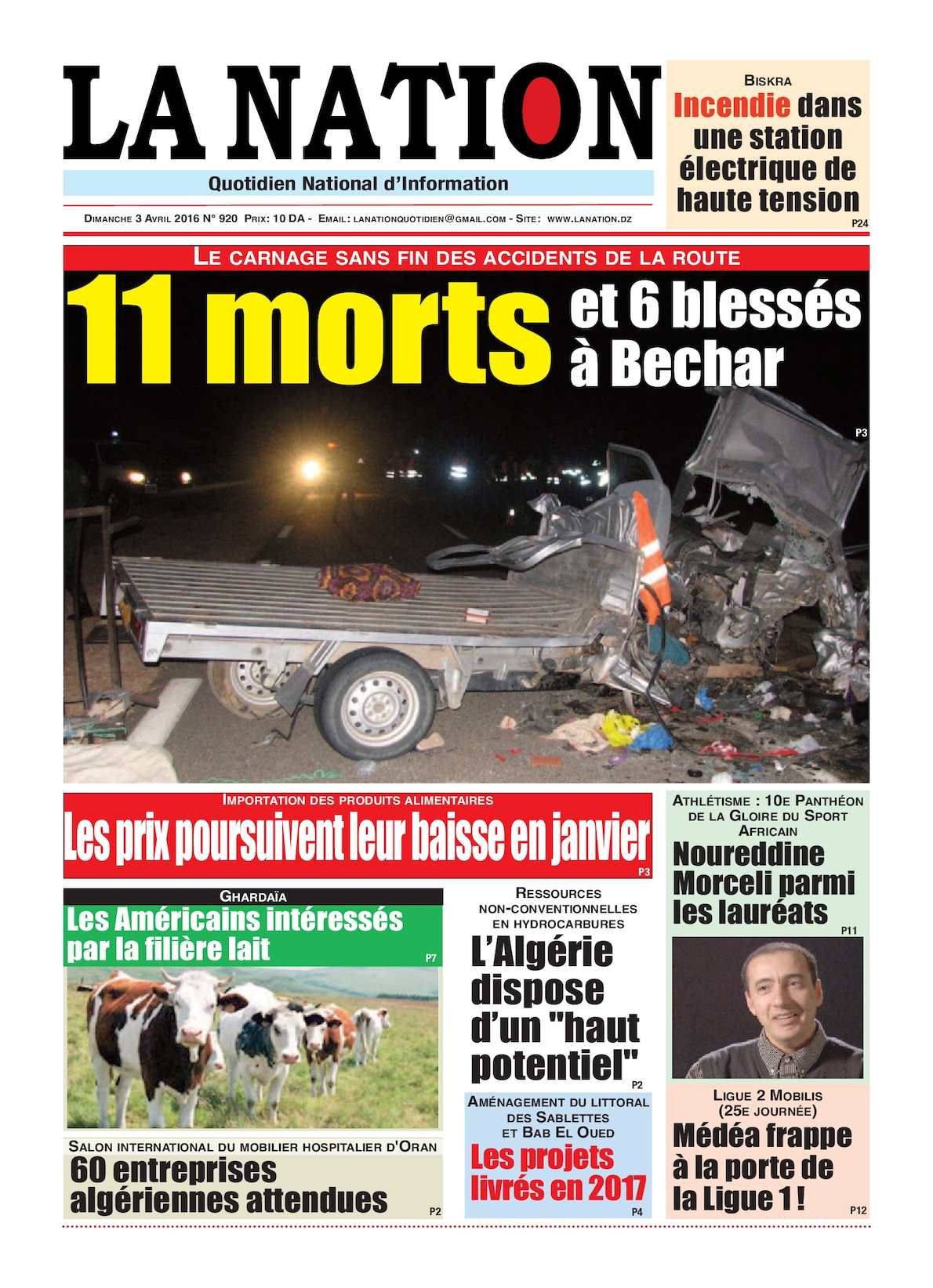 La Nation Edition N 920