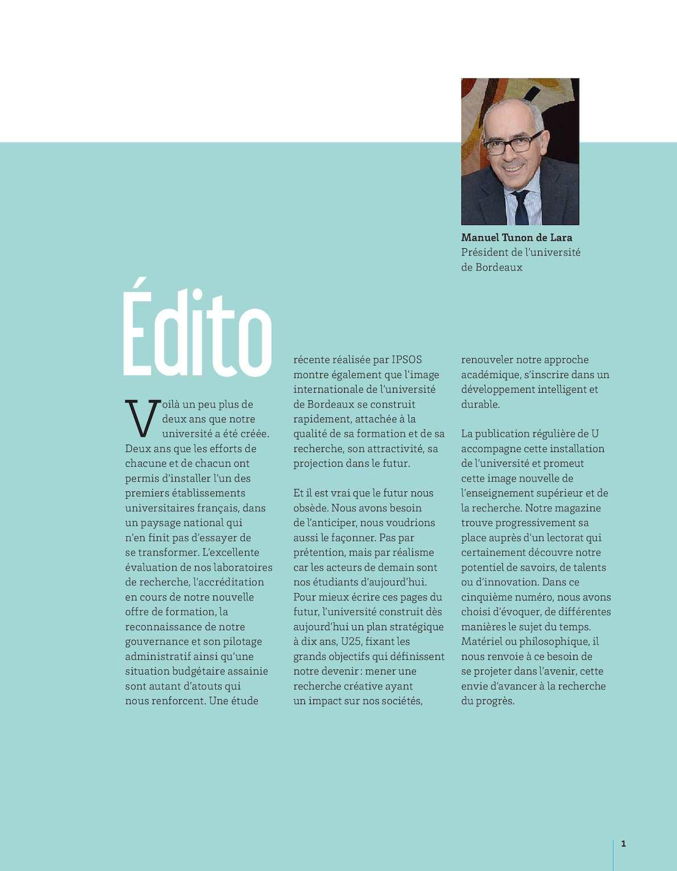 Carte Universite De Bordeaux.U Le Magazine De L Universite De Bordeaux 5 Calameo Downloader