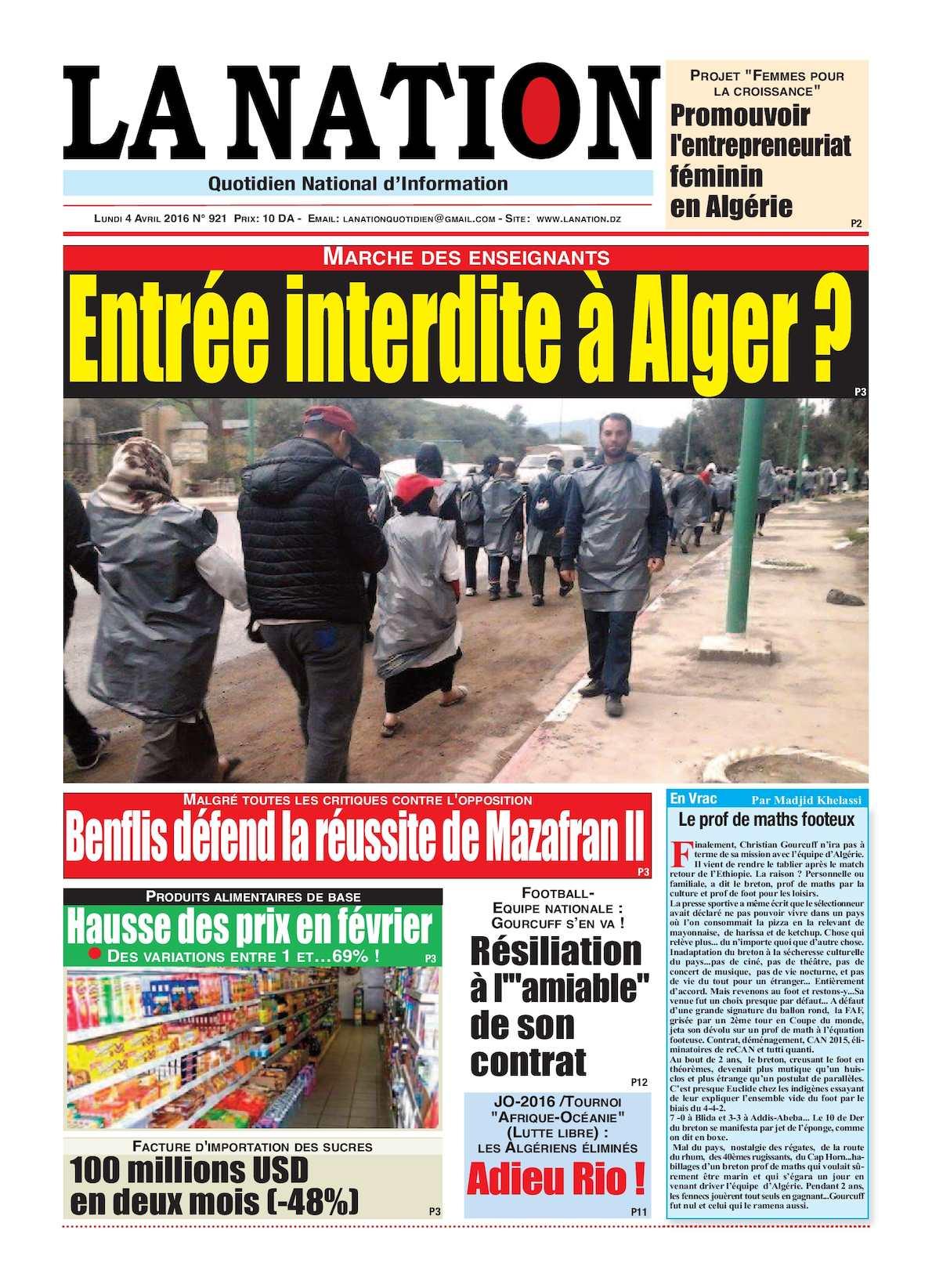 La Nation Edition N 921