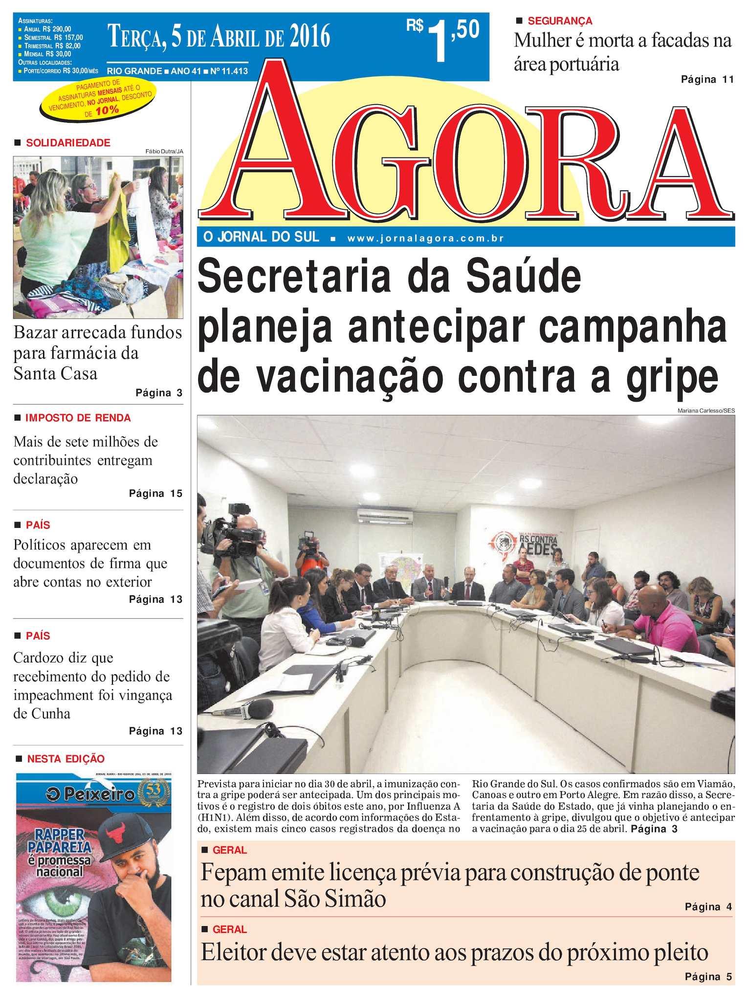 Calaméo Jornal Agora Edição 11413 5 De Abril De 2016