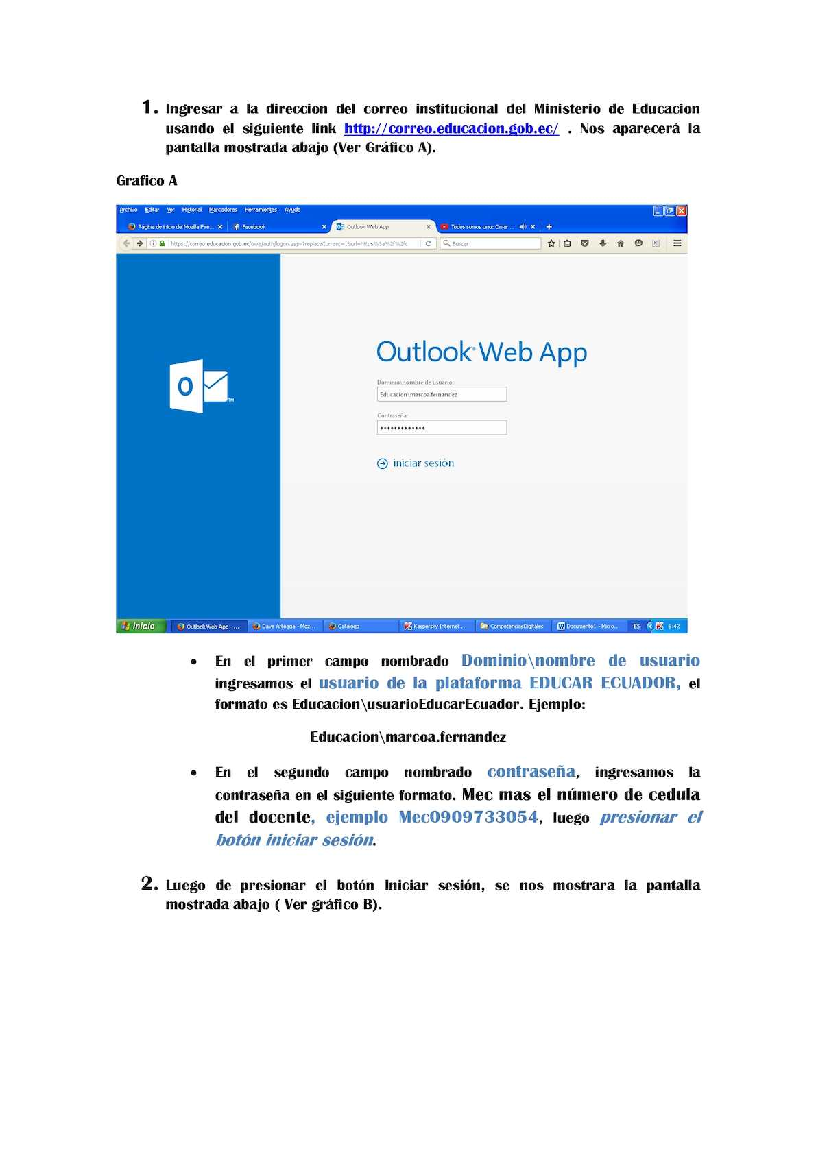 correo institucional educacion gob ec outlook web app
