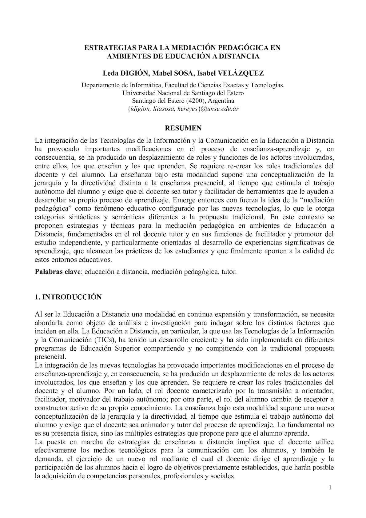 ESTRATEGIAS PARA LA MEDIACIÓN PEDAGÓGICA EN AMBIENTES DE EDUCACIÓN A DISTANCIA