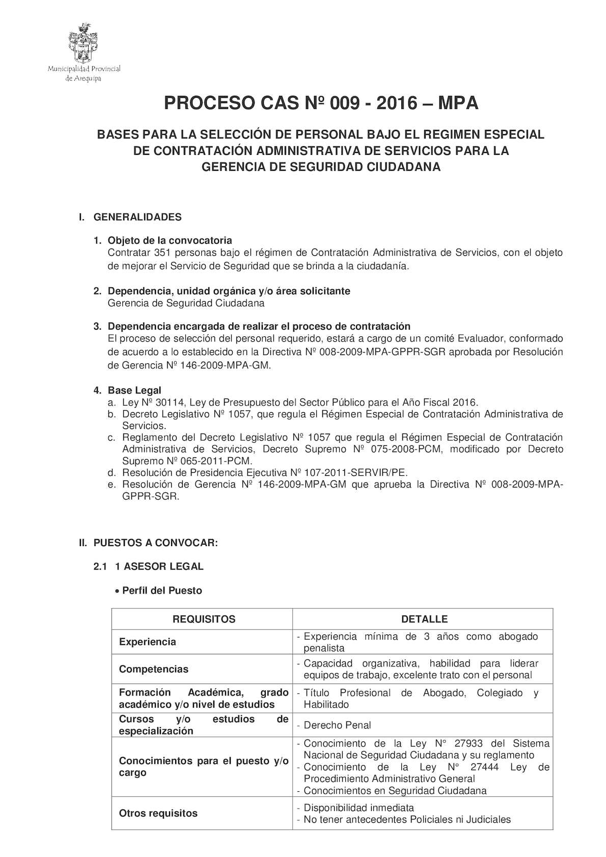 Calaméo - Convocatoria Municipalidad De Arequipa