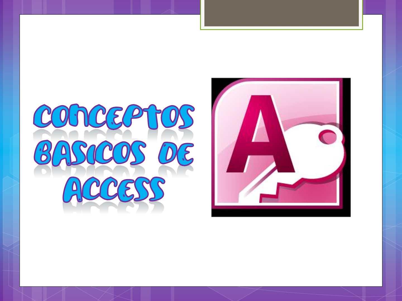 Conceptos Basicos Access