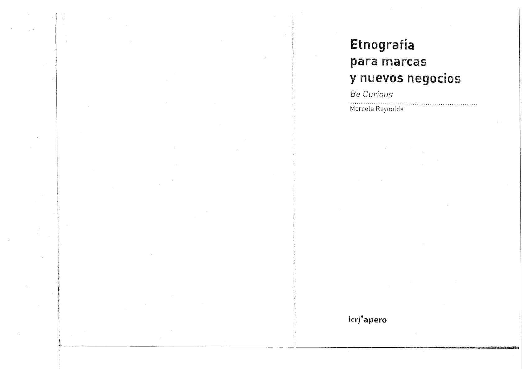 Etnografía Para Marcas Y Nuevos Negocios