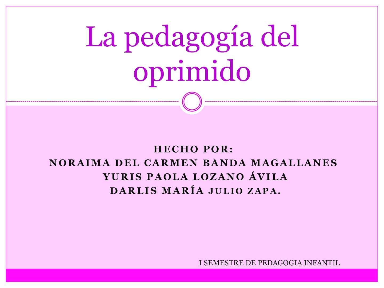 Cartilla de la pedagogia