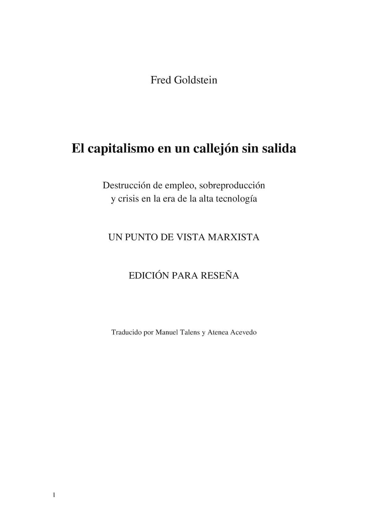 Calaméo - El Capitalismo En Un Callejón Sin Salida