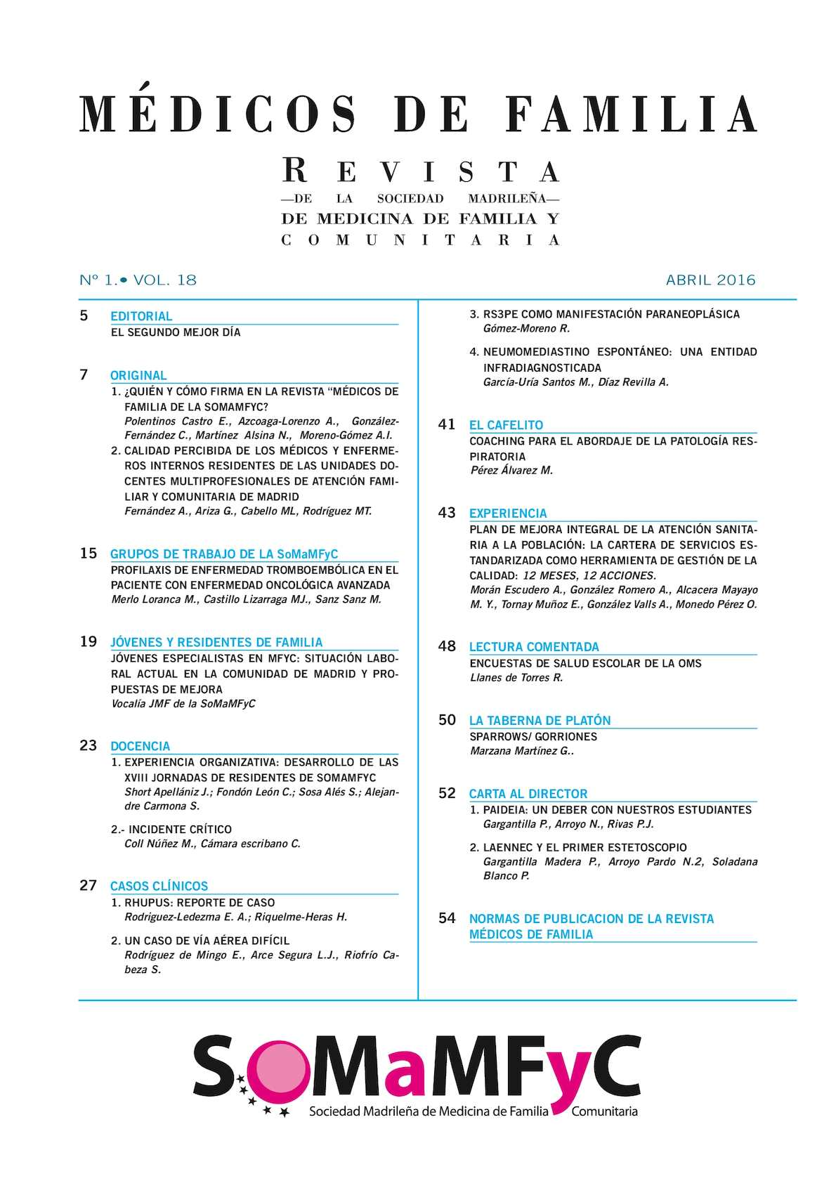 Calaméo - Vol 18 Nº 1 Abril 2016
