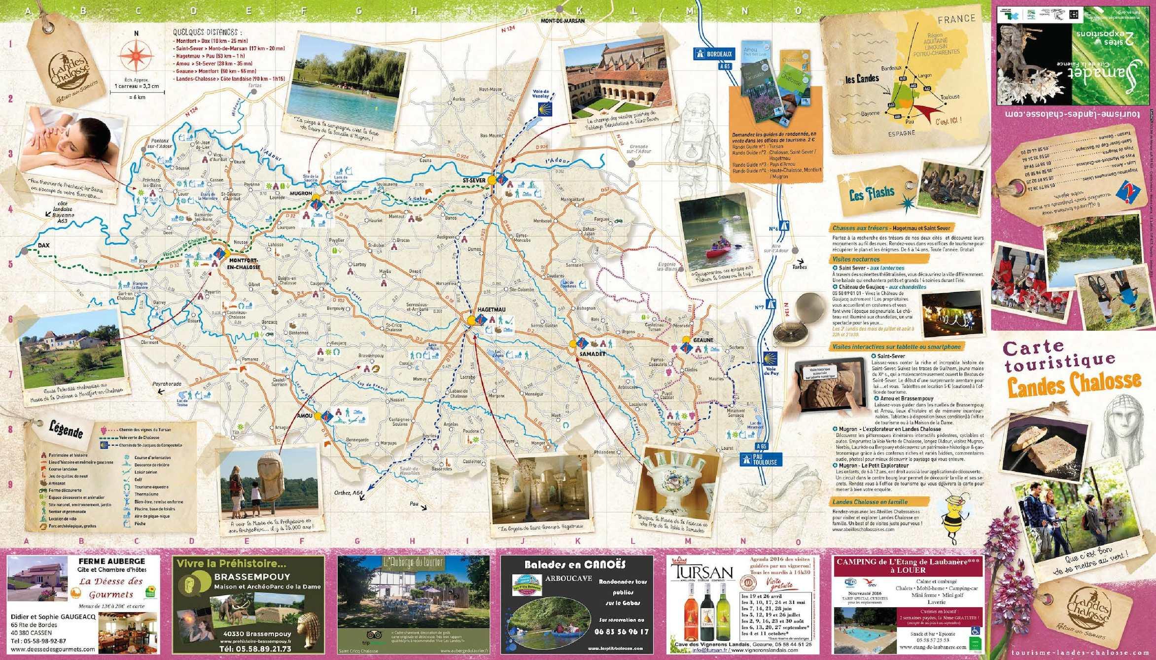 Calaméo   Carte touristique Landes Chalosse 2016