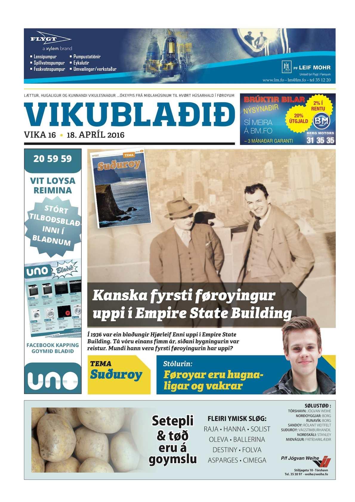 Vikublaðið 18.. apríl 2016