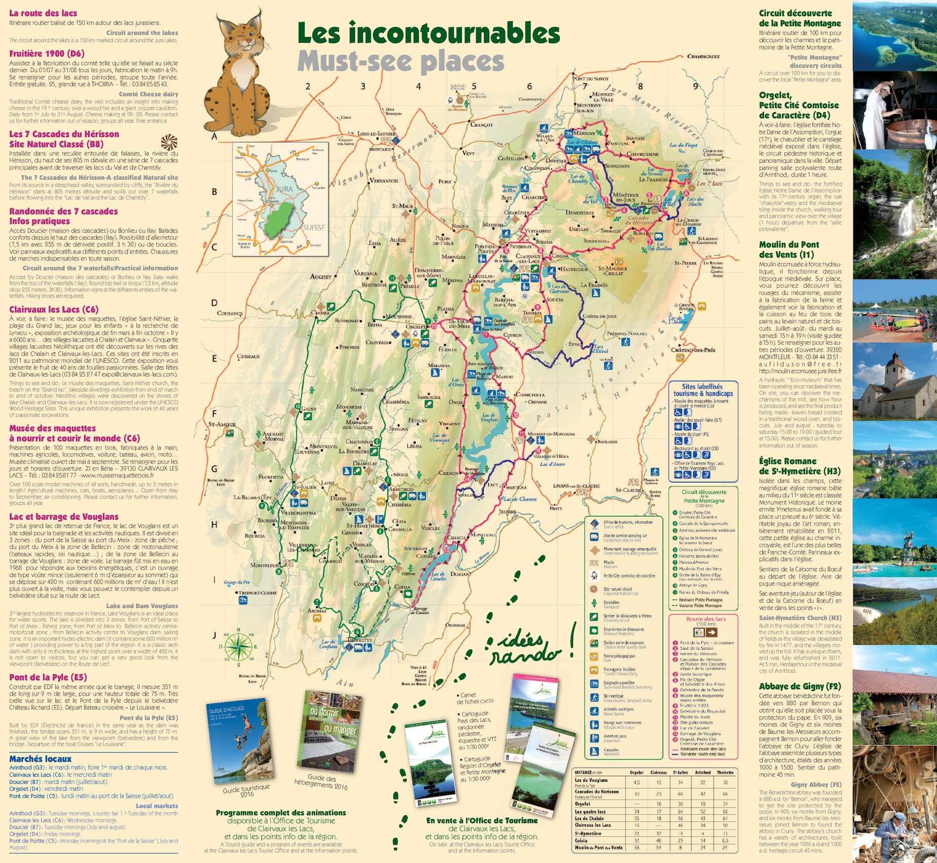 Calaméo Carte Touristique Lacs et Petite Montagne Jura 2016