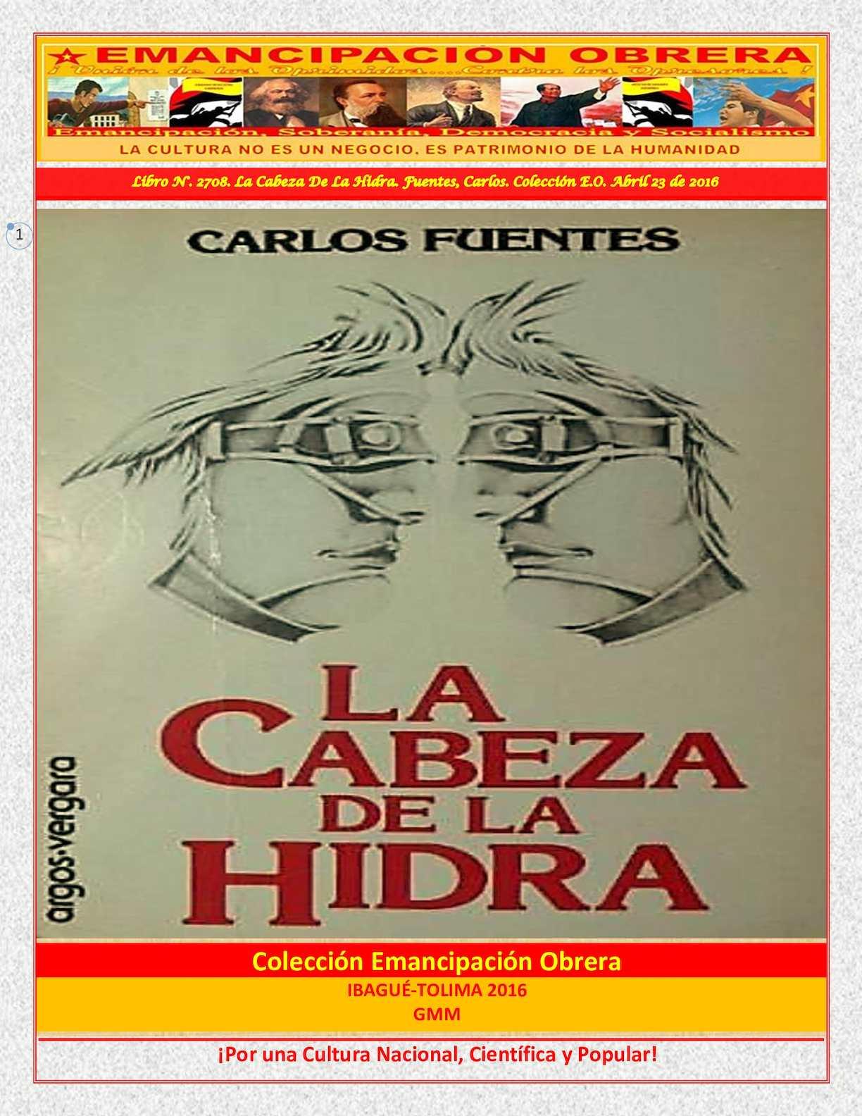 Calaméo - Libro N° 2708 La Cabeza De La Hidra Fuentes, Carlos ...