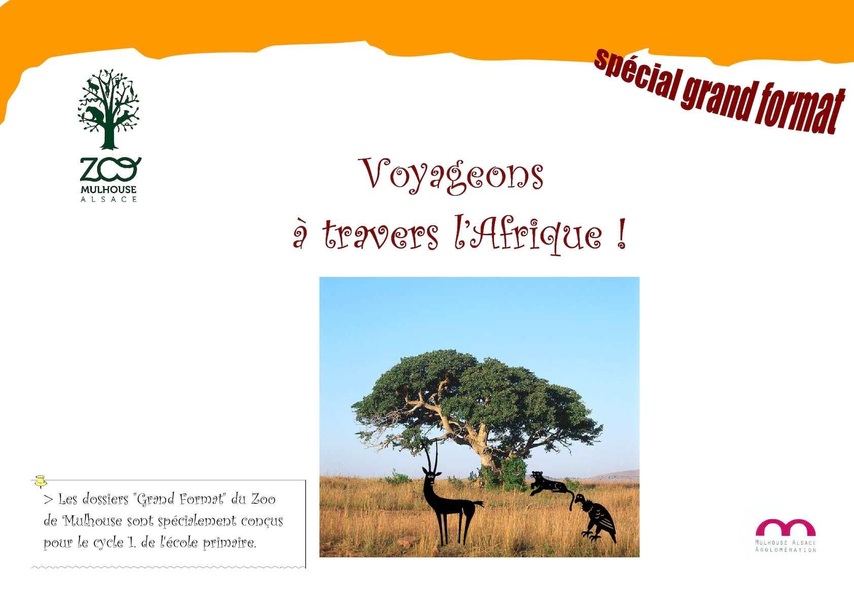 La faune d'Afrique - Panneau illustré