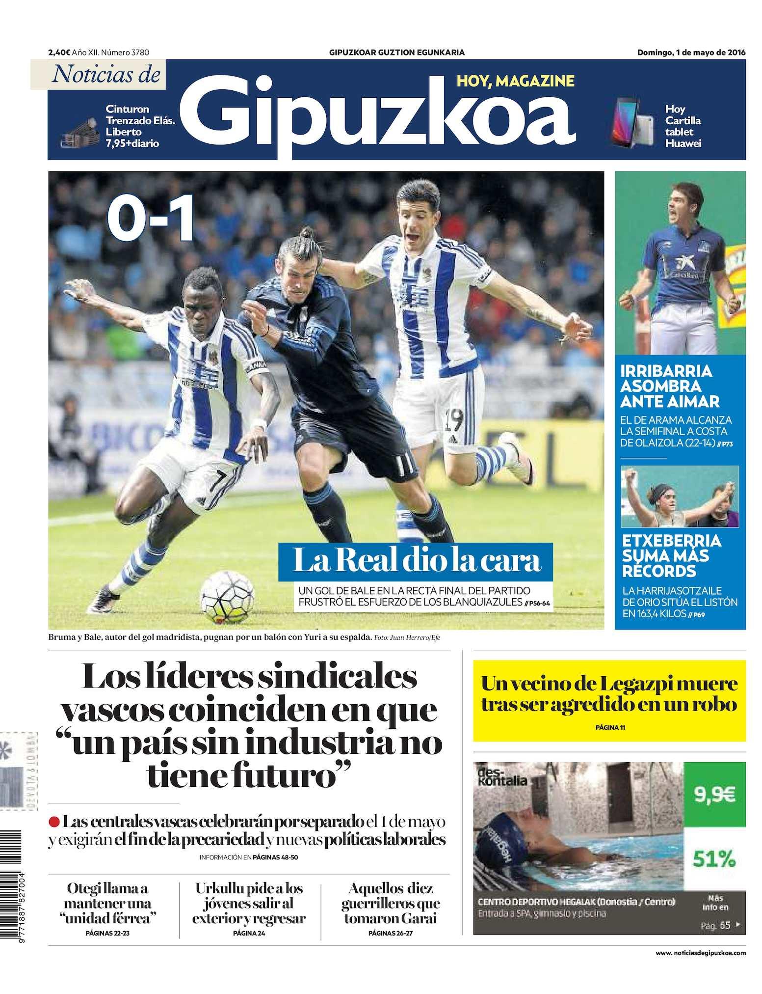 Calaméo - Noticias de Gipuzkoa 20160501