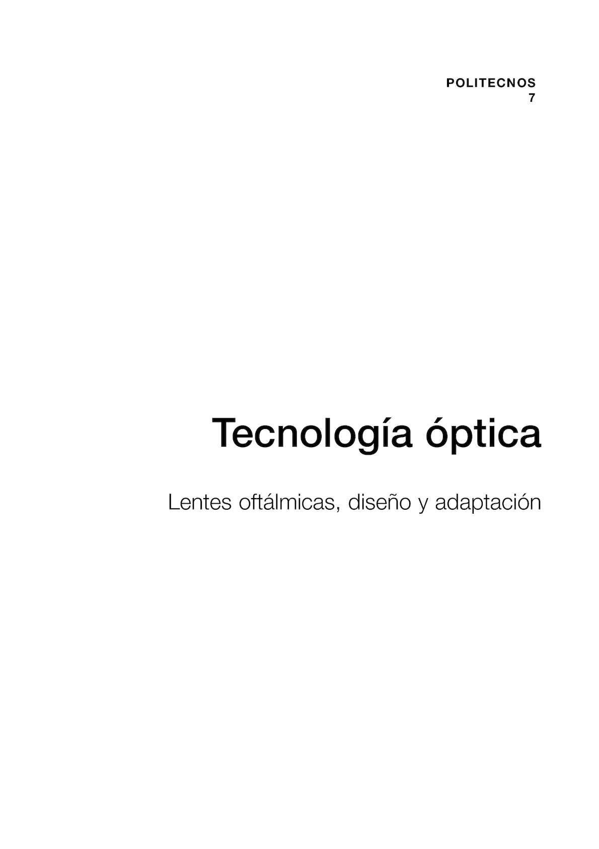 Calaméo - Tecnología Óptica- Lentes Oftálmicas, Diseño y Adaptación ...