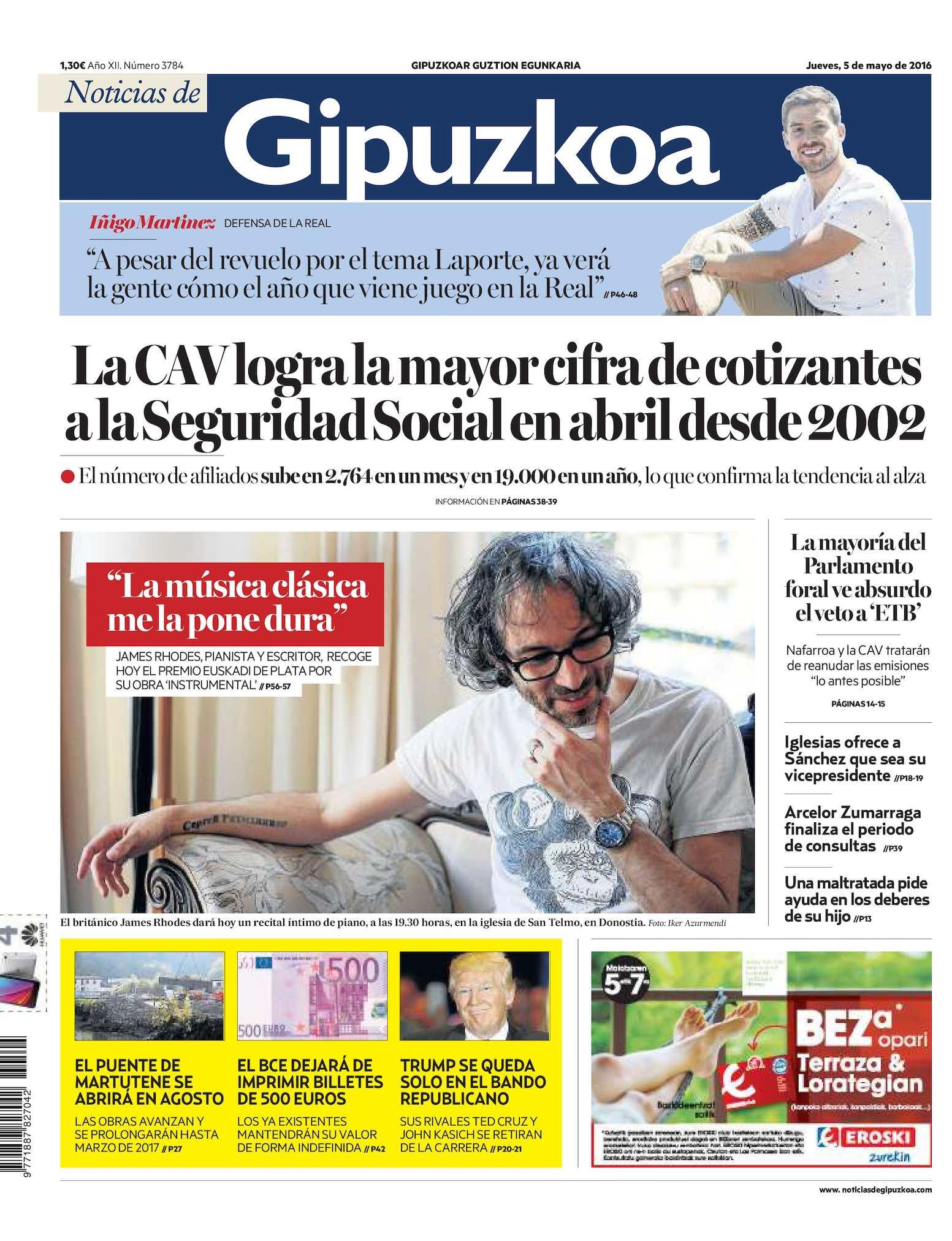 Calaméo - Noticias de Gipuzkoa 20160505