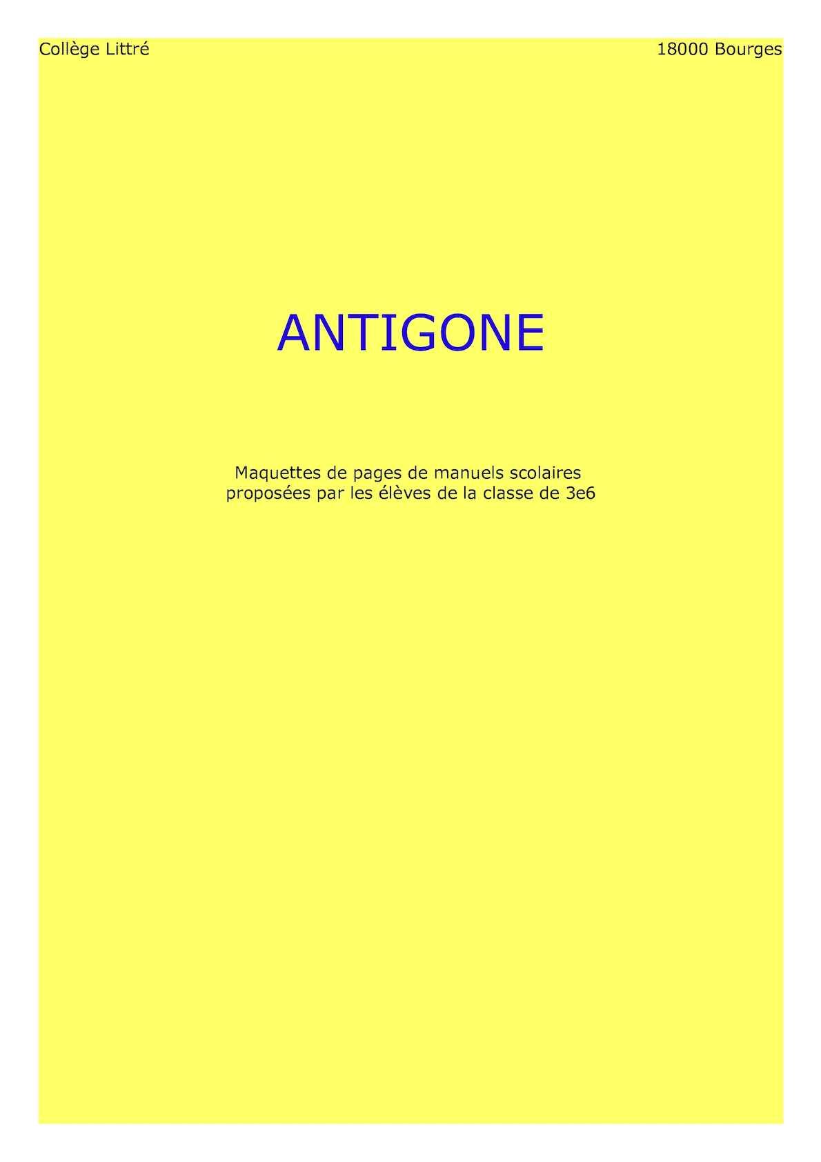Manuel Scolaire Antigone