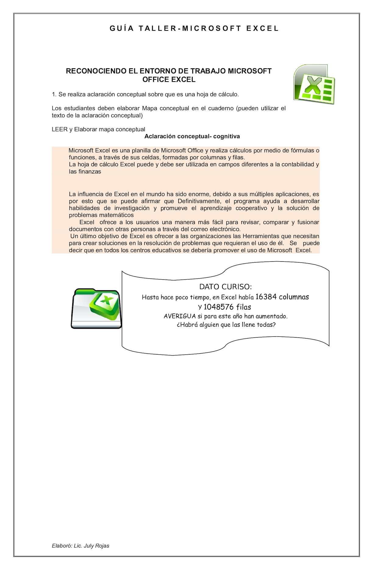 Calaméo - Guia Taller Excel 1