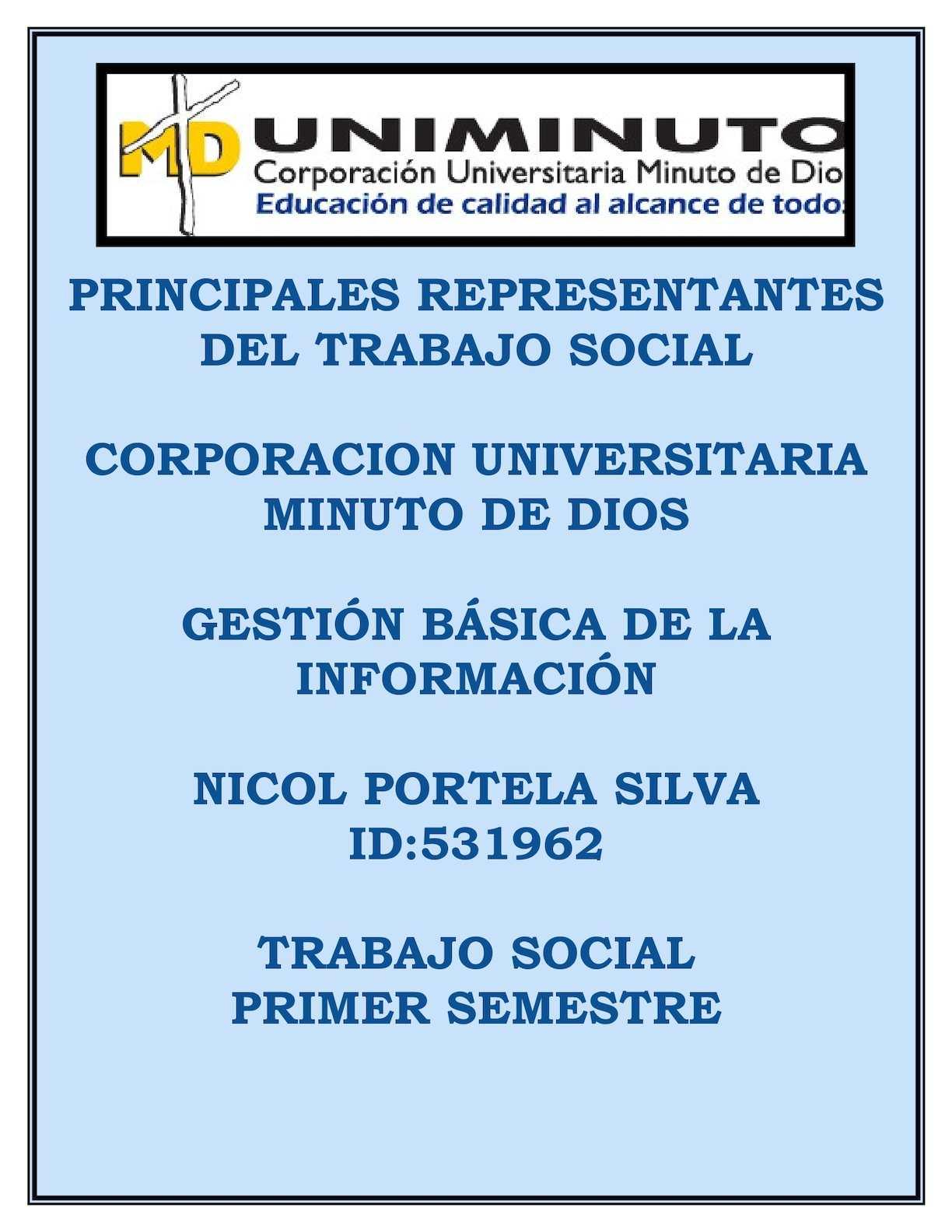 Principales Representantes Del Trabajo Social