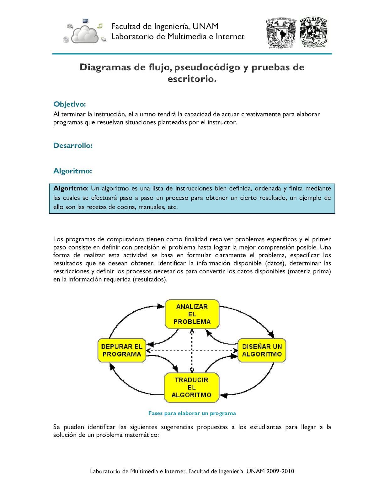 Calamo diagramas de flujo pseudocdigo y pruebas de escritorio ccuart Gallery