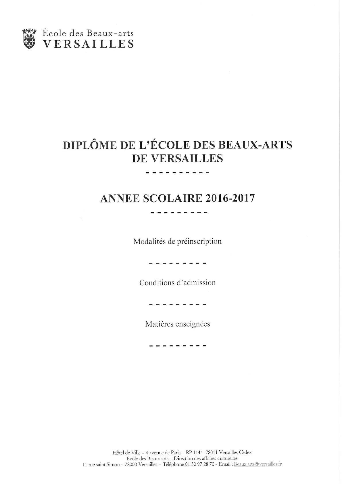 Calaméo - Inscription Ecole des Beaux Arts 2016 2017