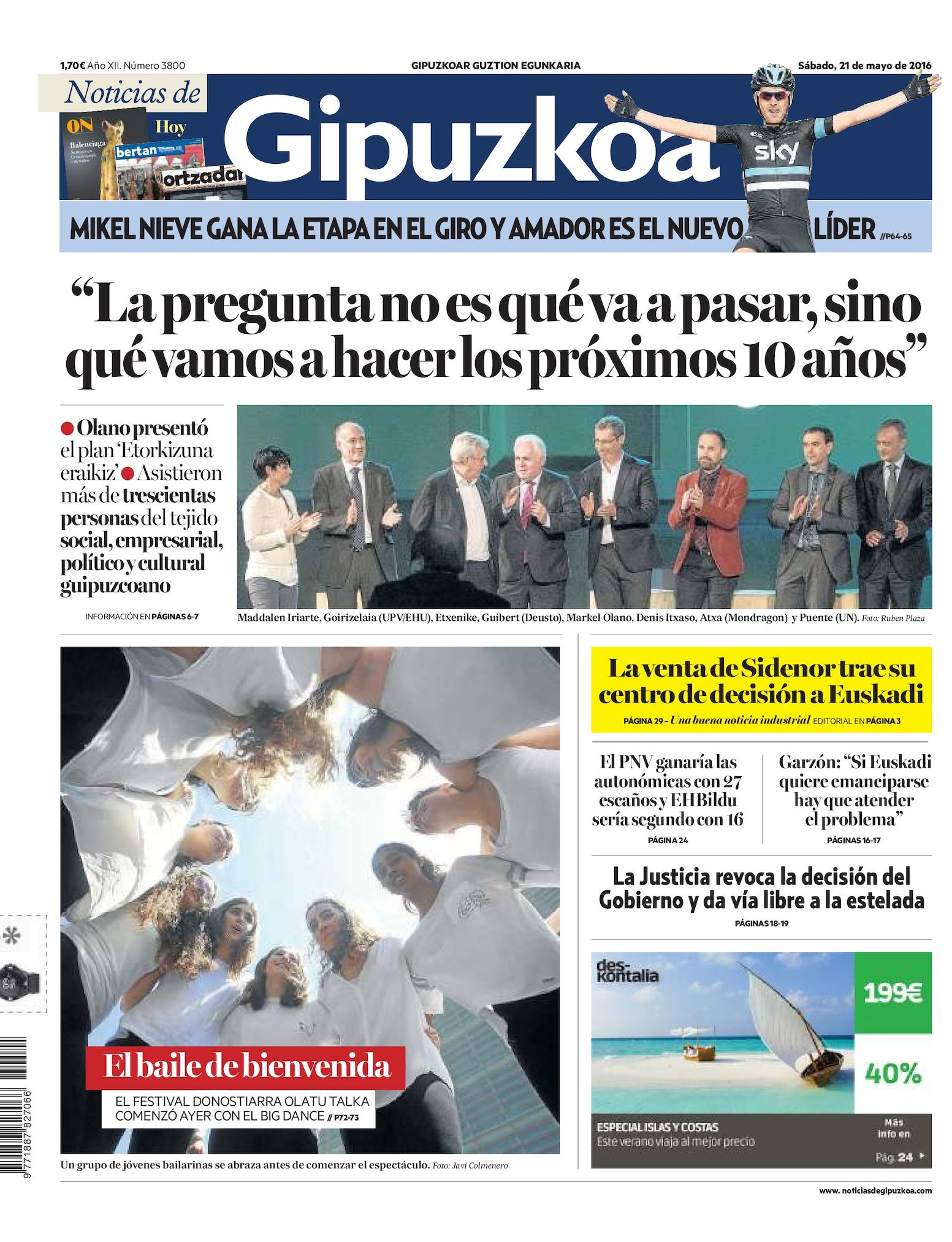 Calaméo - Noticias de Gipuzkoa 20160521