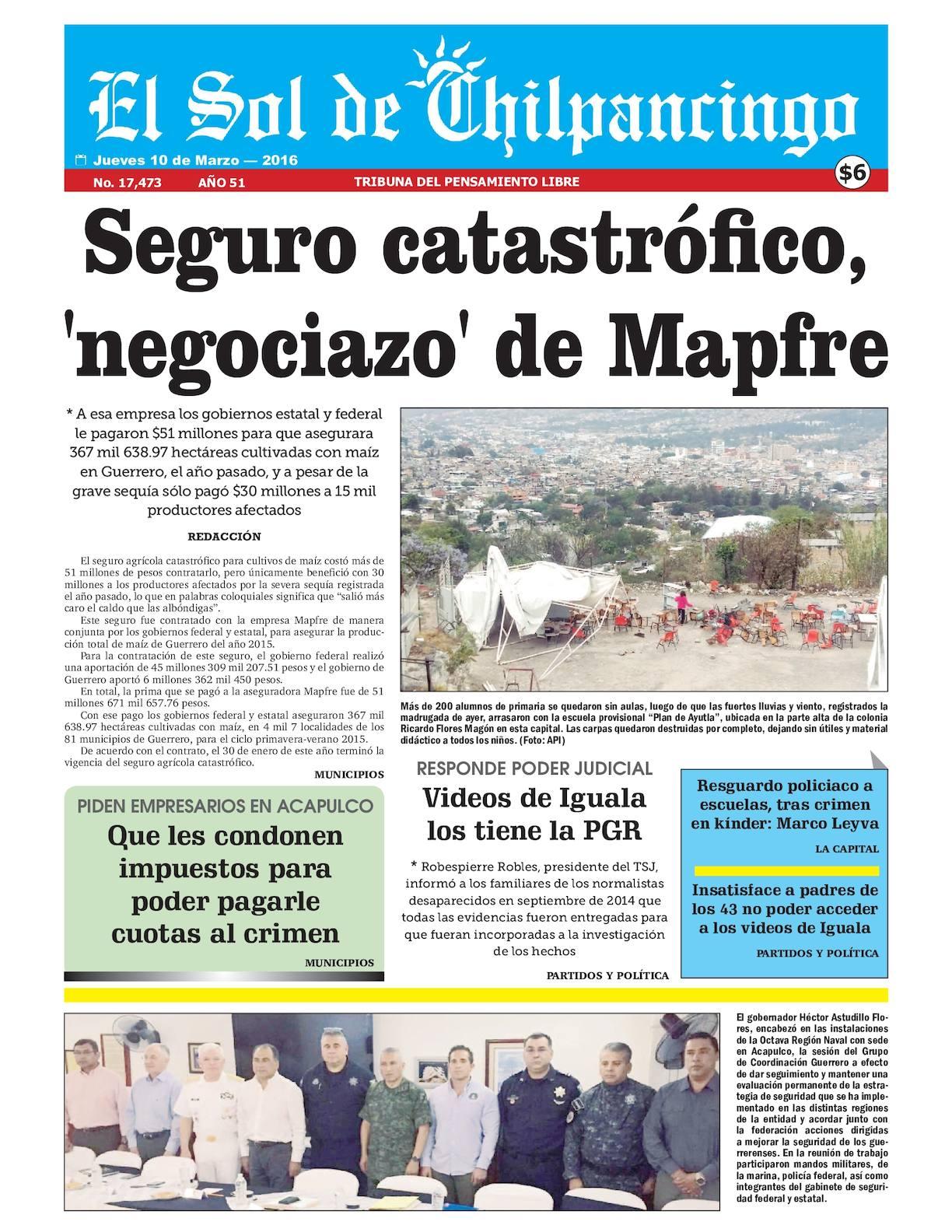 Calaméo - El Sol De Chilpancingo - 10 Marzo 2016