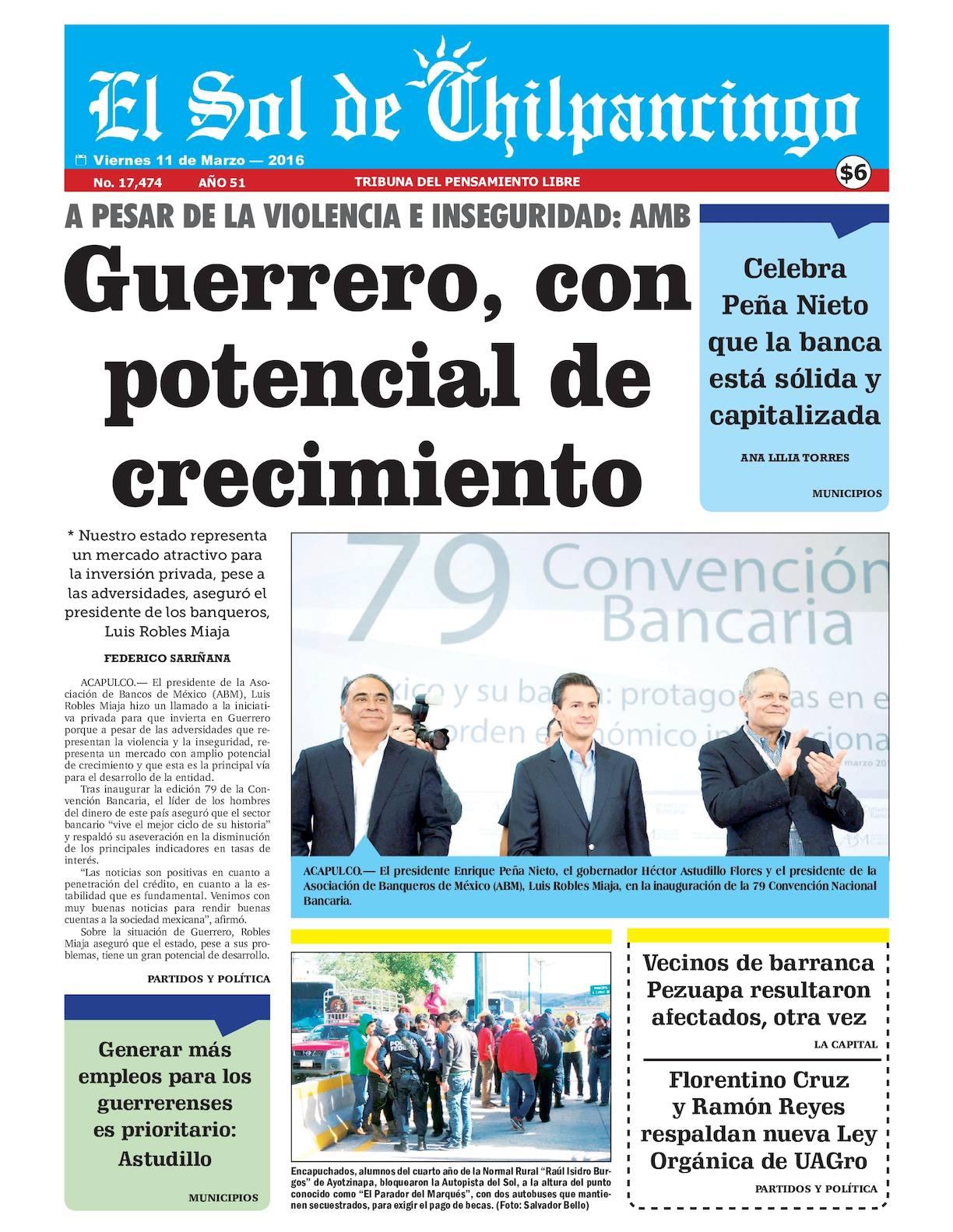 Calaméo - El Sol De Chilpancingo - 11 Marzo 2016
