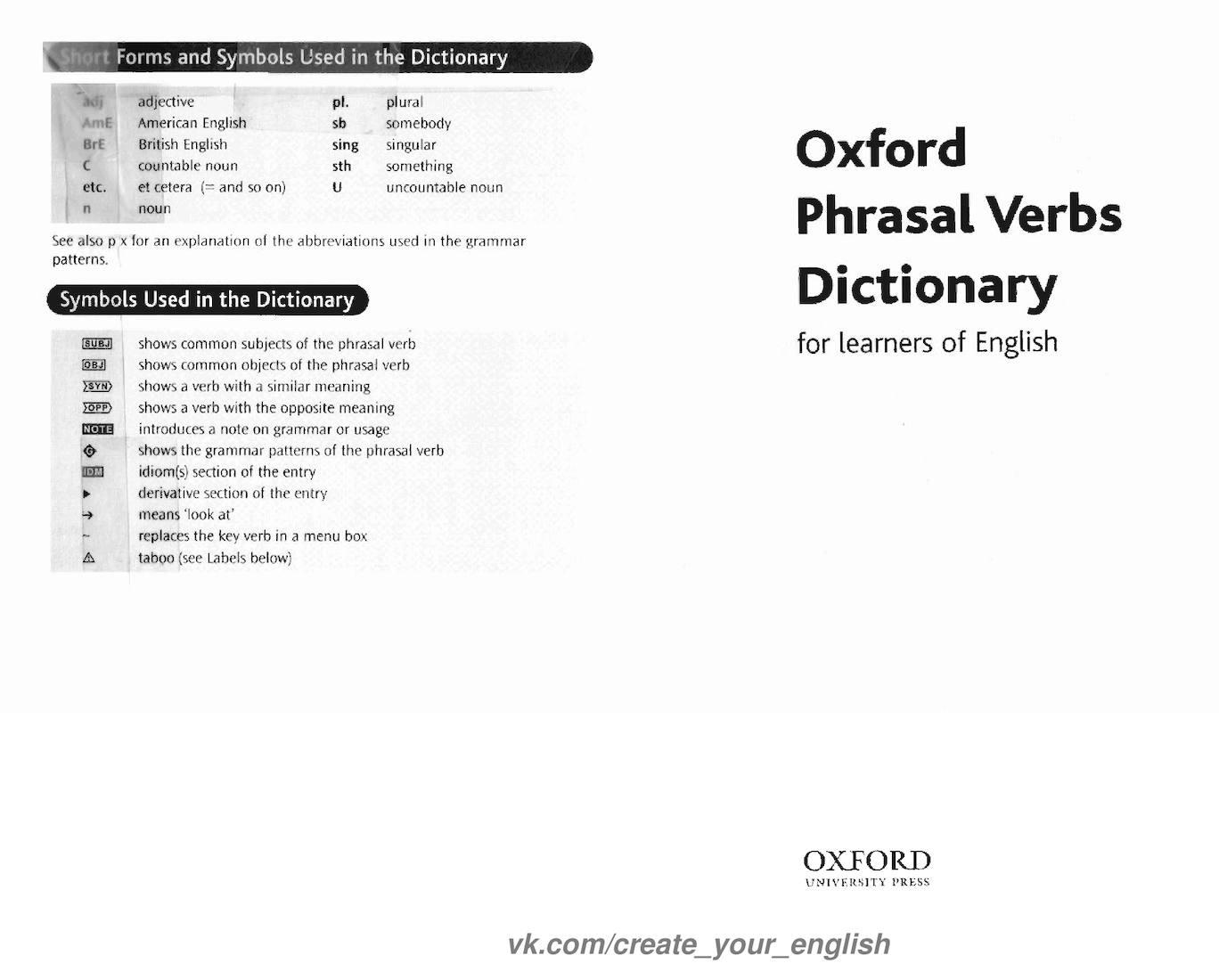 Calamo oxford phrasal verbs dictionary biocorpaavc