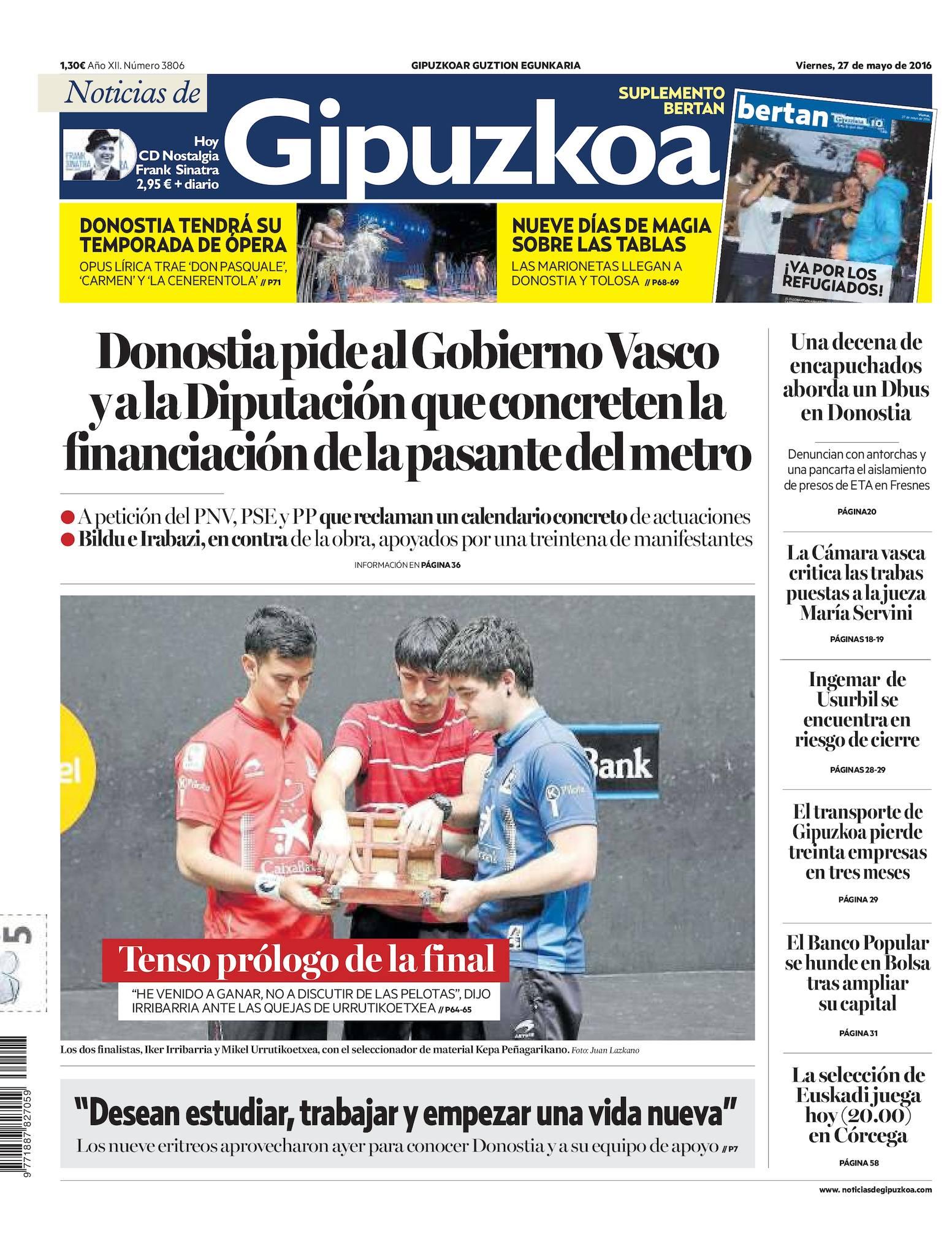 Calaméo - Noticias de Gipuzkoa 20160527