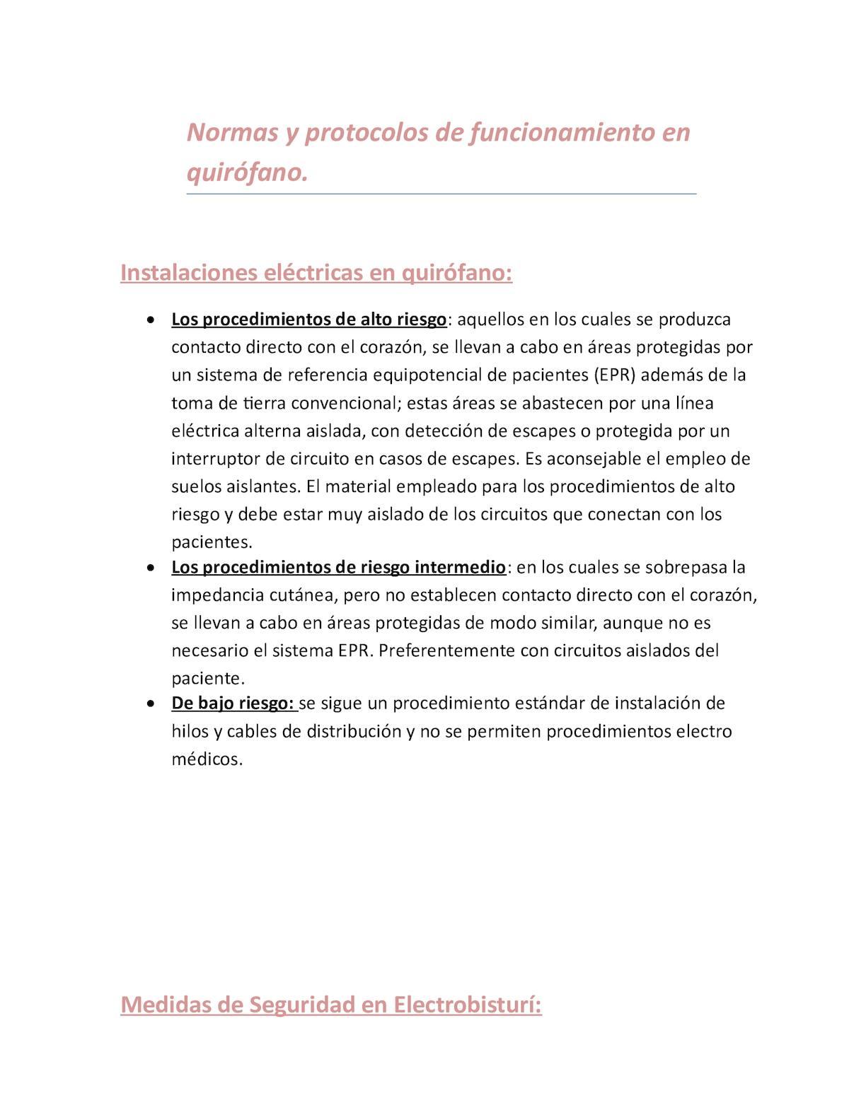 Circuito Quirurgico : Calaméo normas de seguridad para un quirófano seguro