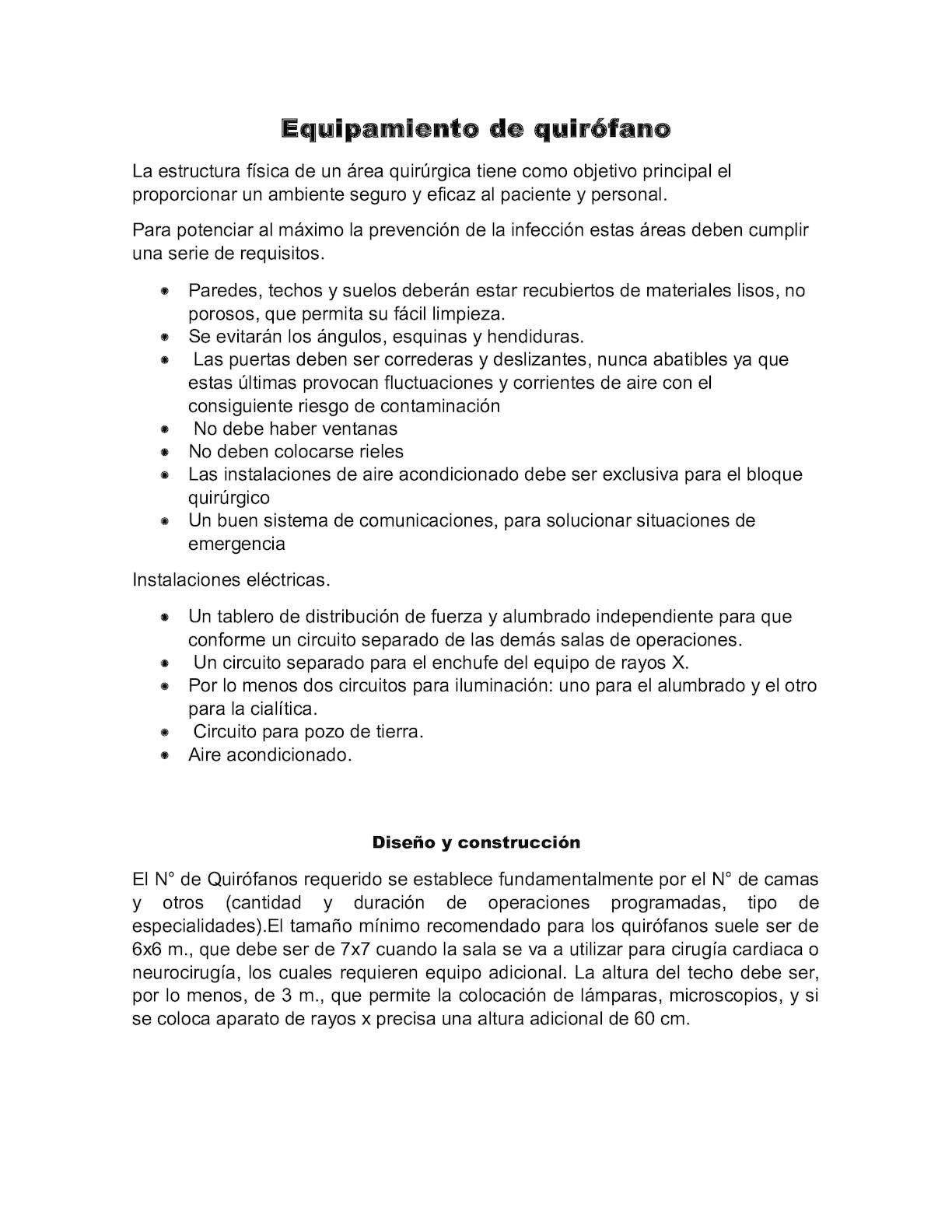 Circuito Quirurgico : Calaméo equipamiento de quirófano