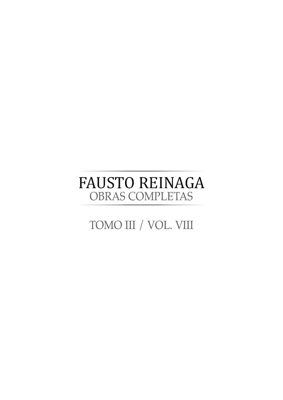 Fausto Reinaga Tomo 8