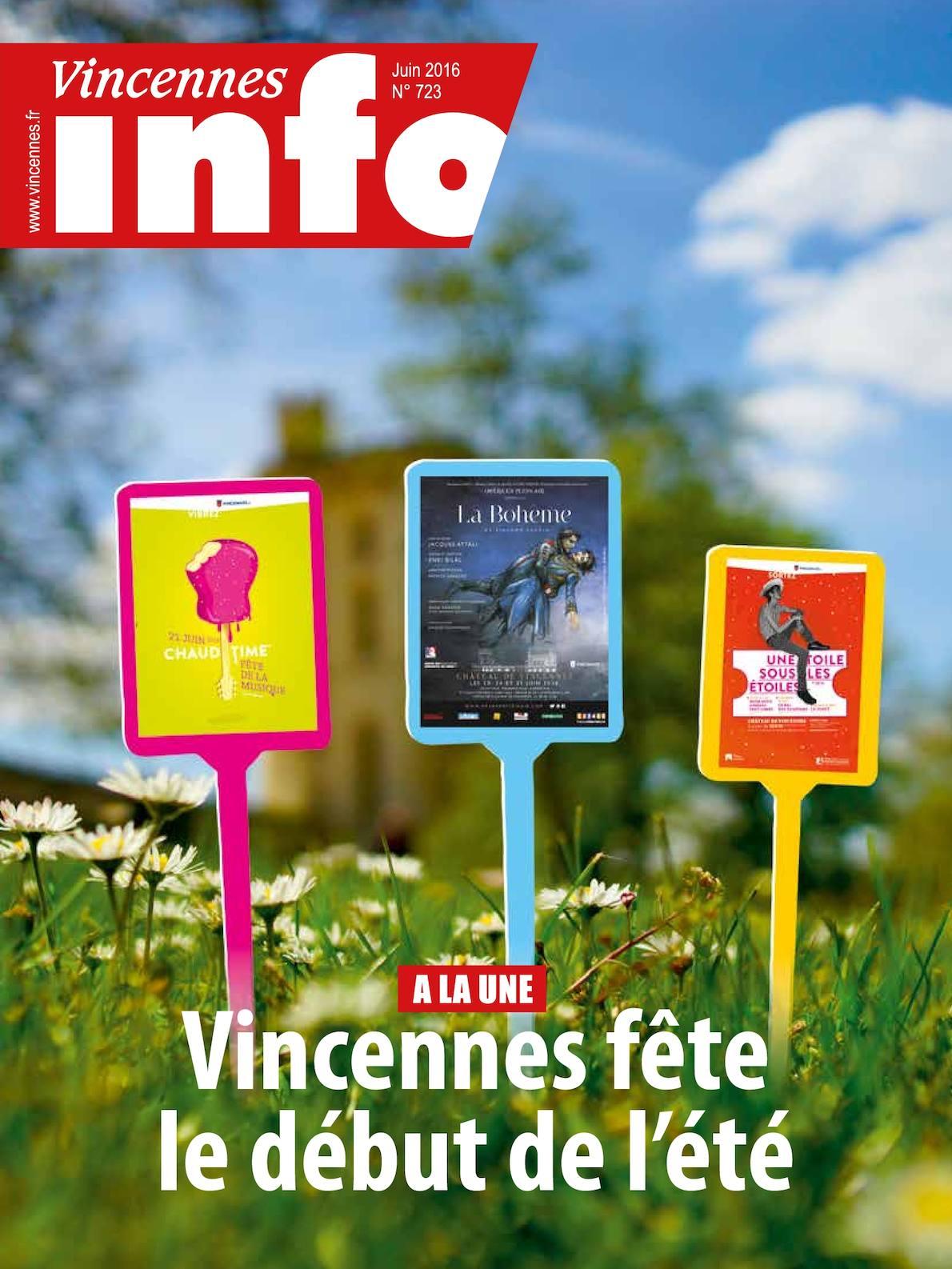 Calam o vincennes info n 723 juin 2016 - Office de tourisme vincennes ...