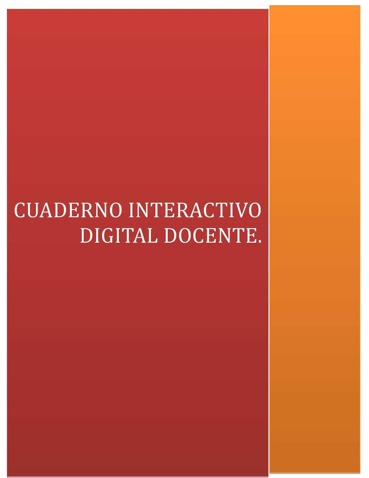 Cuaderno Interactivo Digital Docente