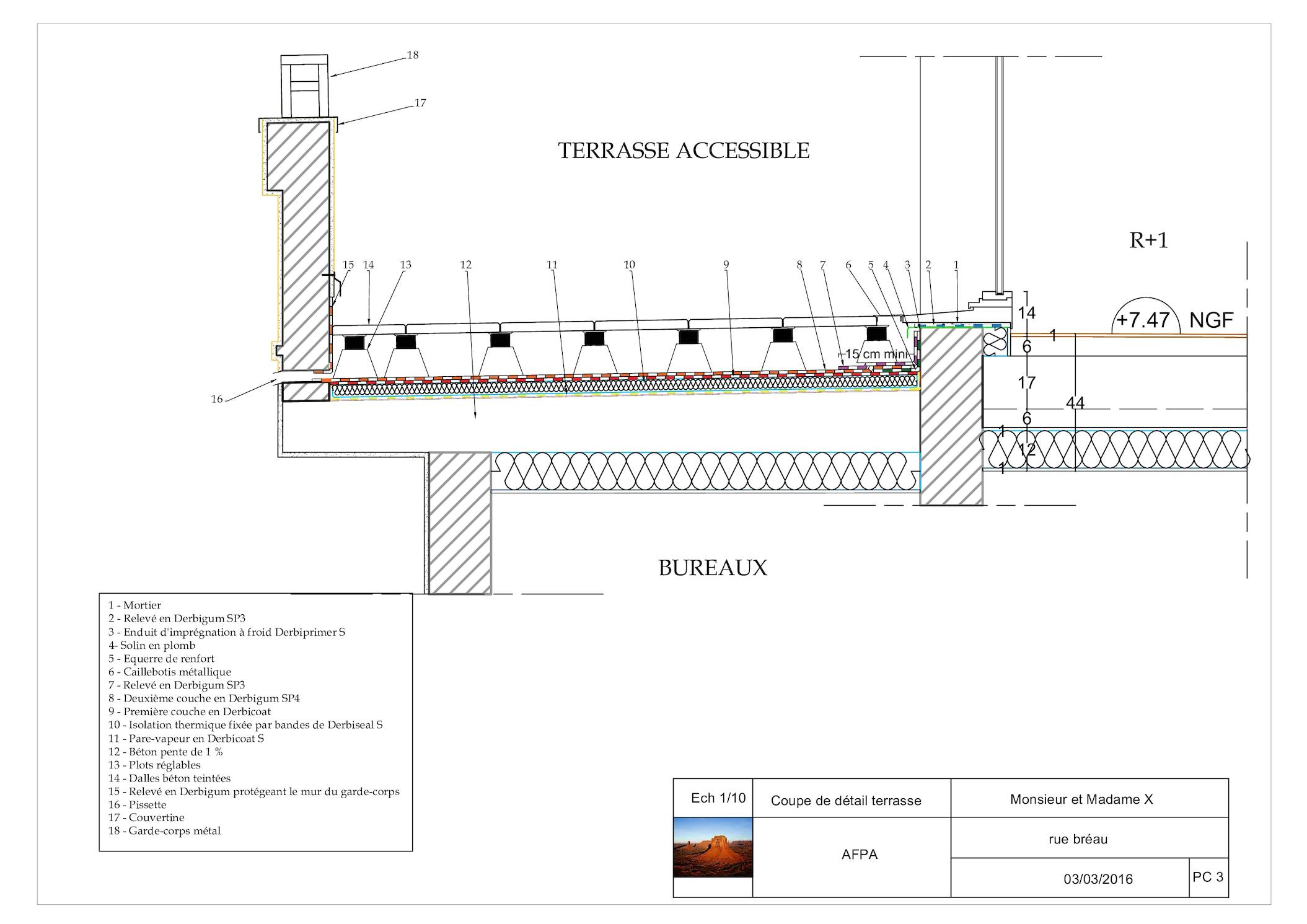 calam o dessin d tails toit terrasse. Black Bedroom Furniture Sets. Home Design Ideas