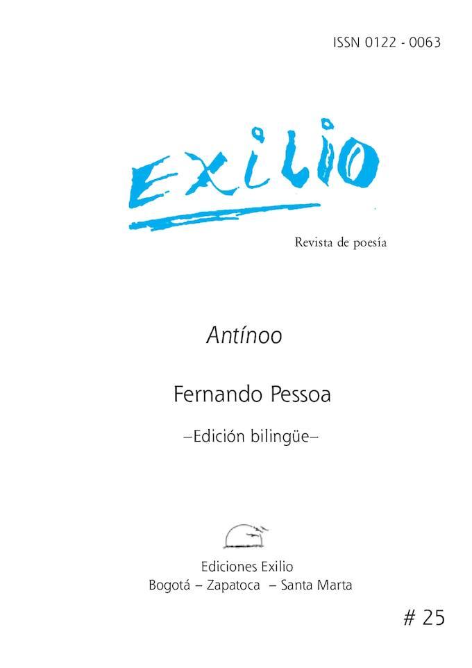 Antinoo. Fernando  Pessoa. Revista Exilio No. 25