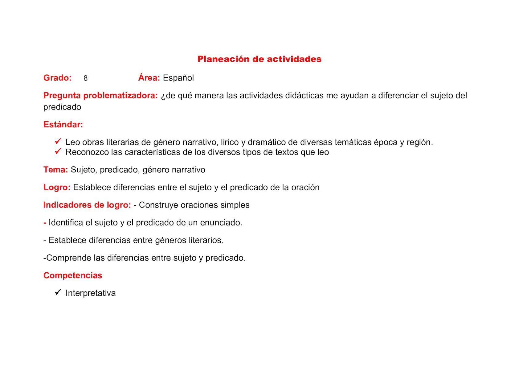 Calaméo - Plan De Clase Castellano