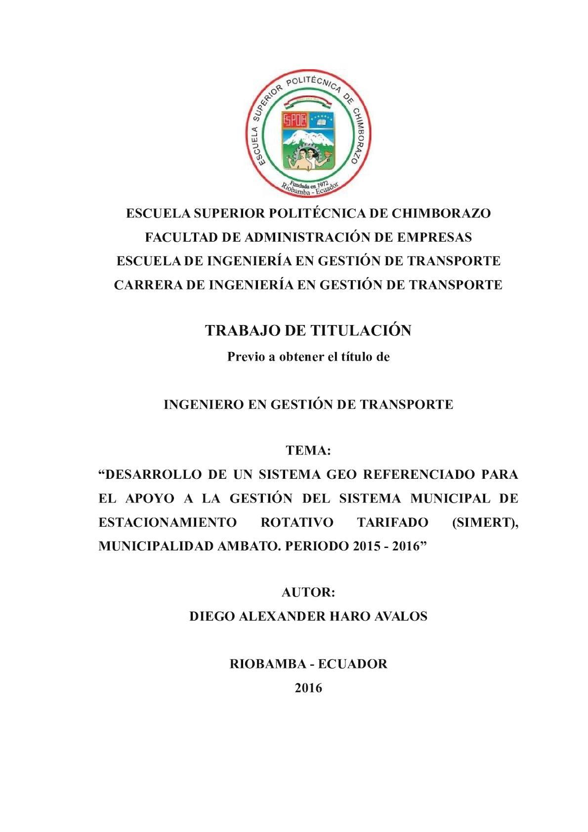 Calaméo - DESARROLLO DE UN SISTEMA DE INFORMACIÓN GEOREFERENCIADO