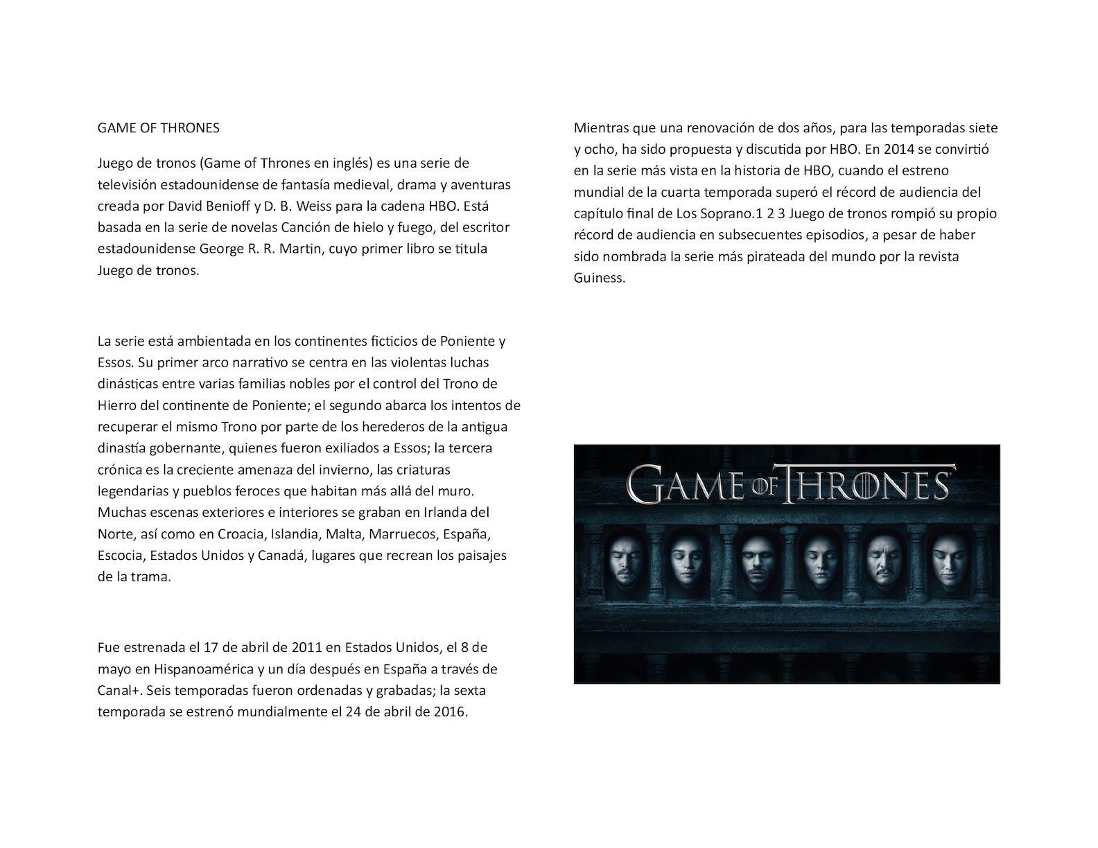 Calaméo - Game Of Thrones