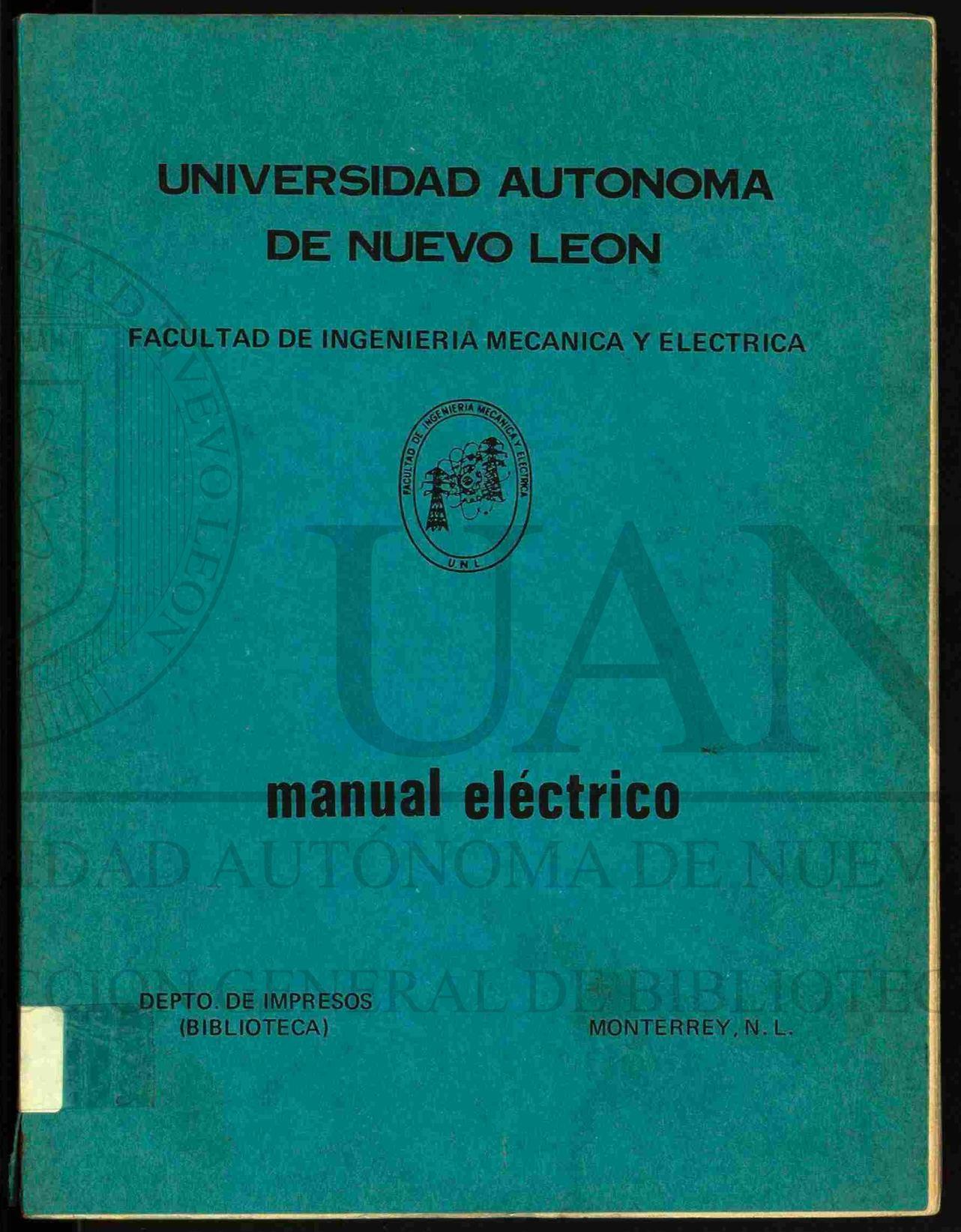 Calaméo - MANUAL ELECTRICO - Univ. Aut. de Nuevo Leon - VAF