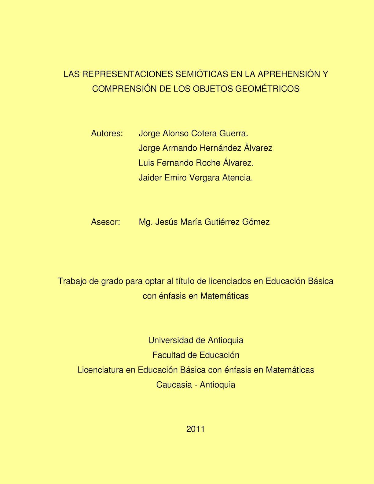 Calaméo - La Representaciones Semióticas en la Aprehensión y ...