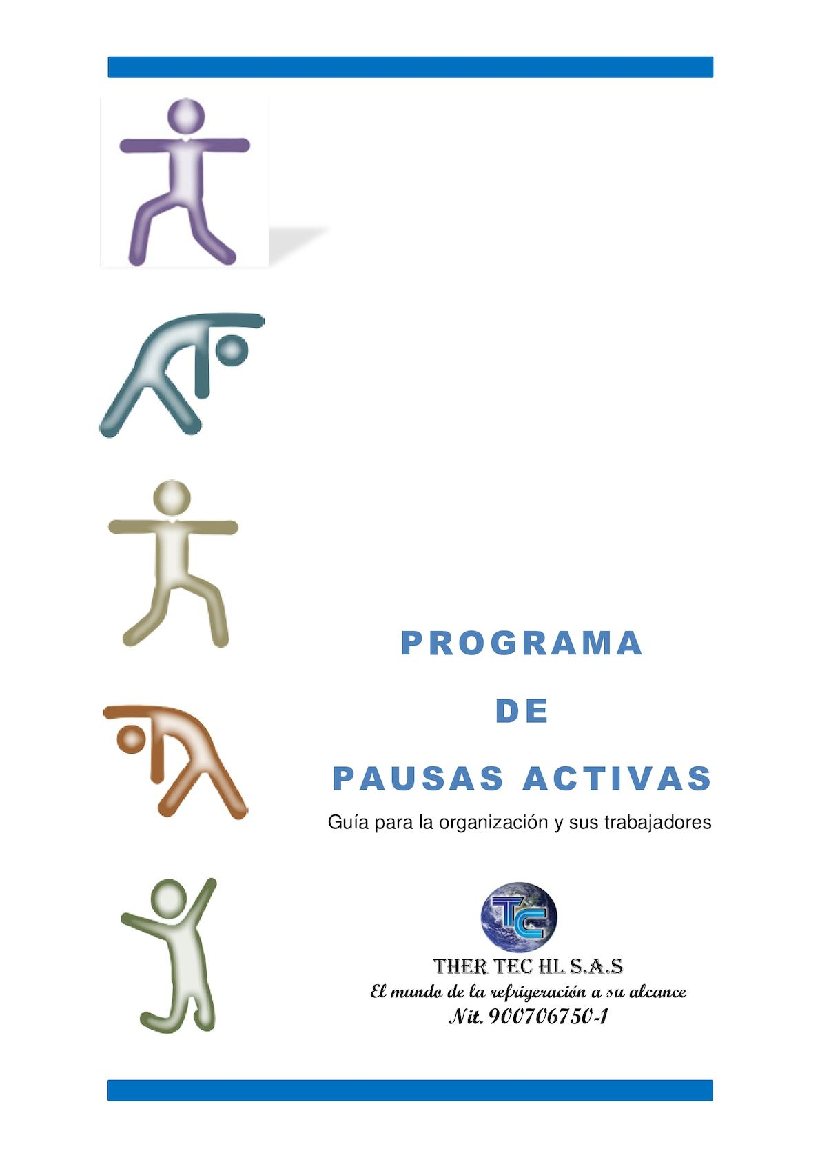 Programa De Pausas Activas Pyme Ther Tec Hl S A S Ficha 955960 Grupo 69545