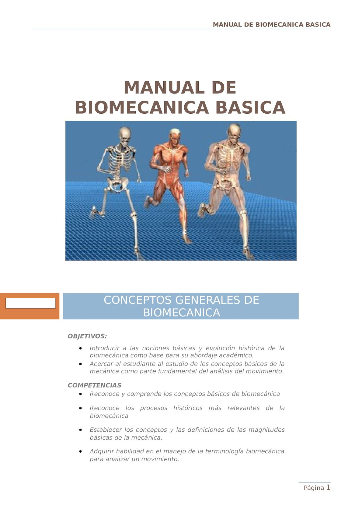 Manual De Biomecanica Basica