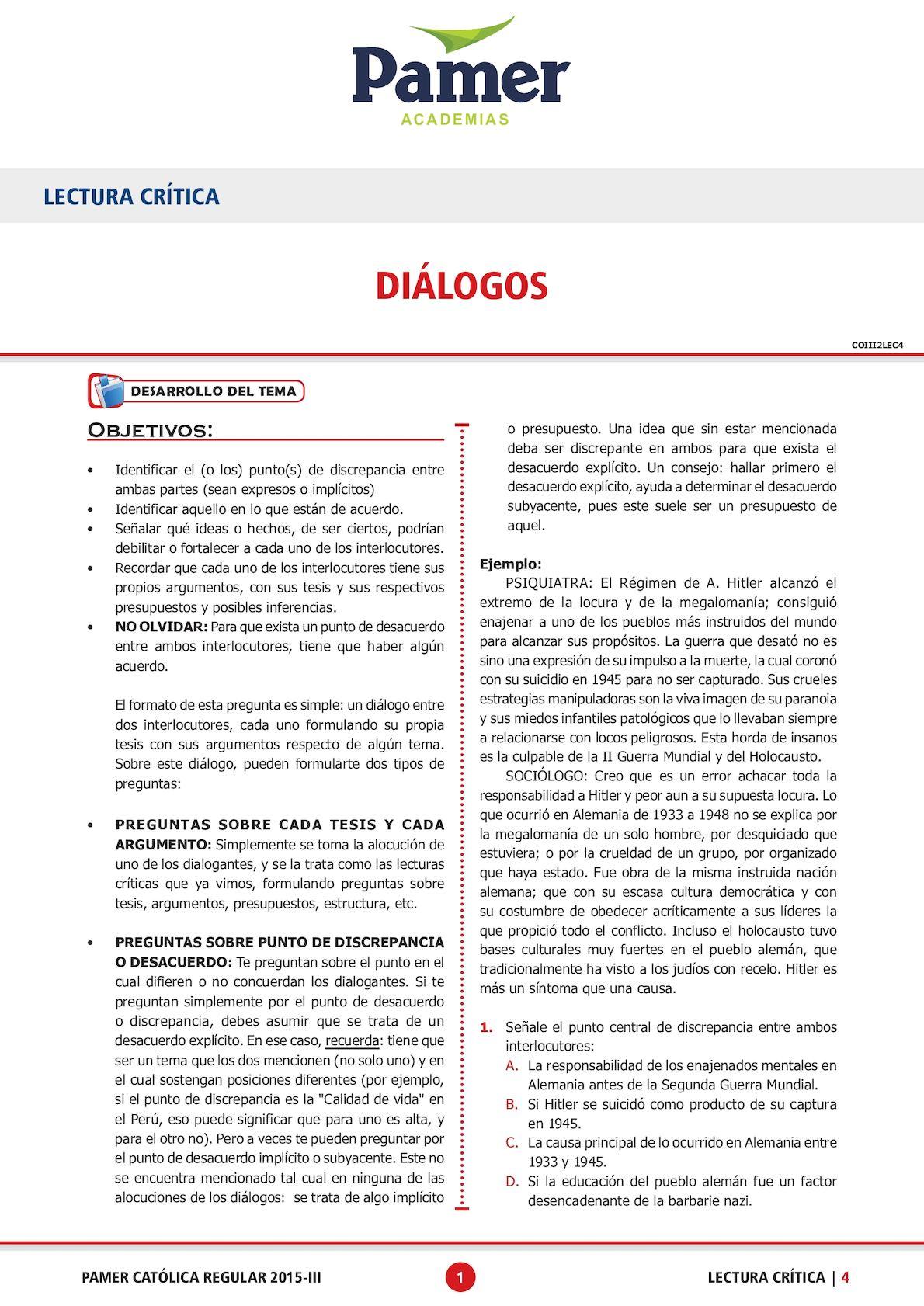 Tema 4 (Diálogos I)