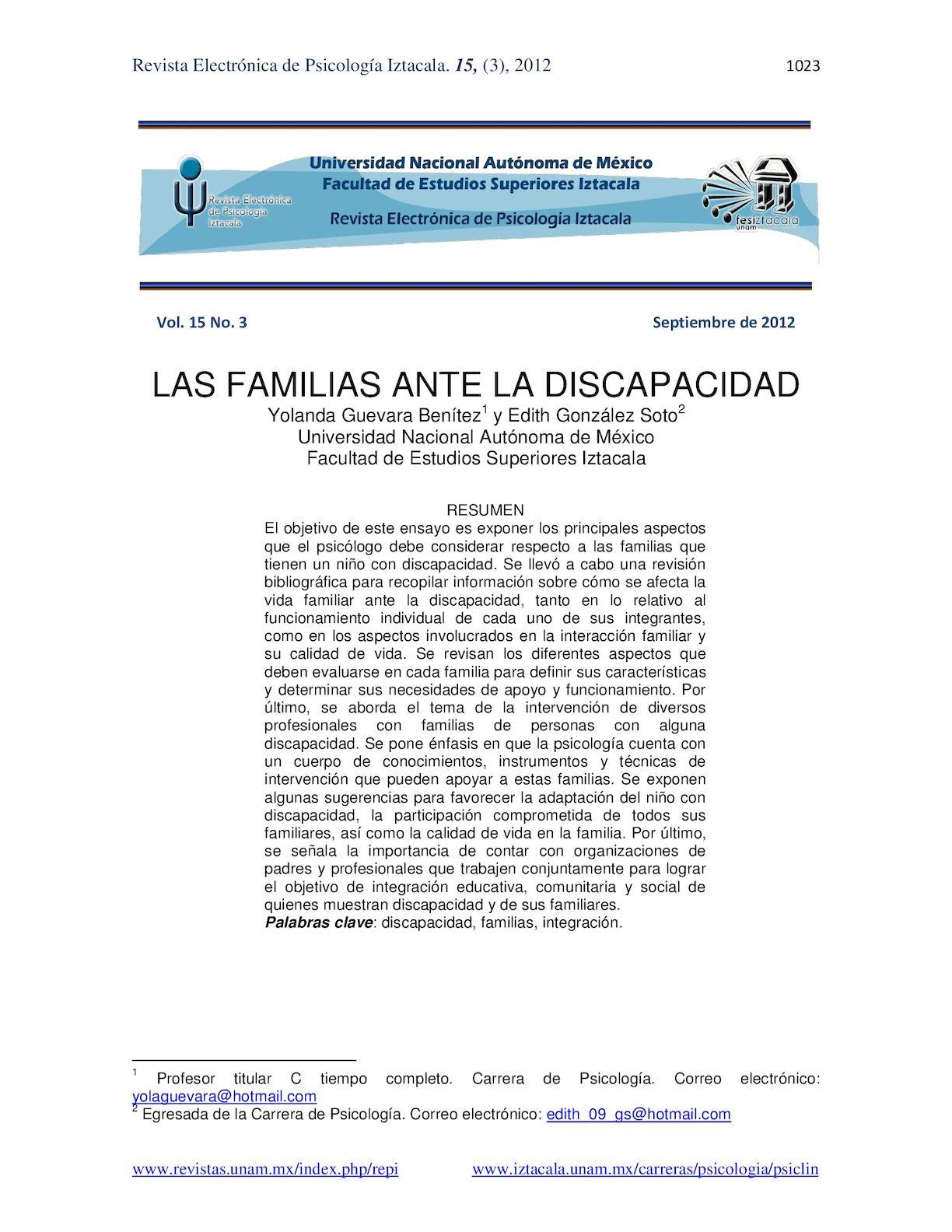 Calaméo - La Familia Ante La Discapacidad