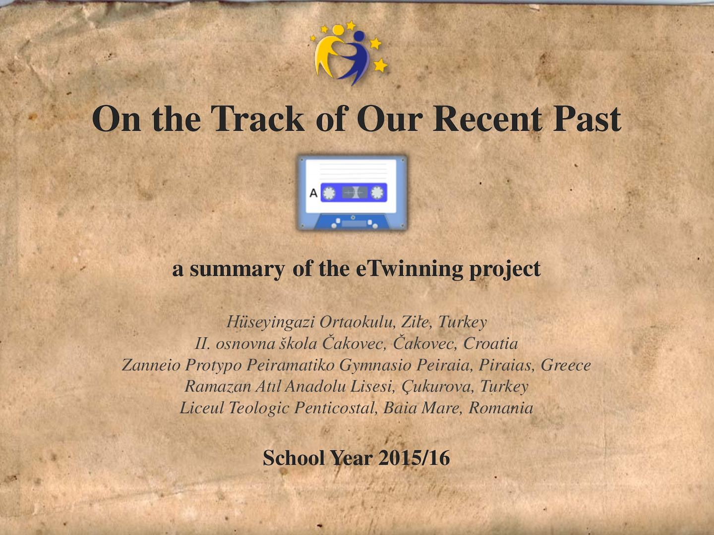 On The Track of Our Recent Past Project Brochure