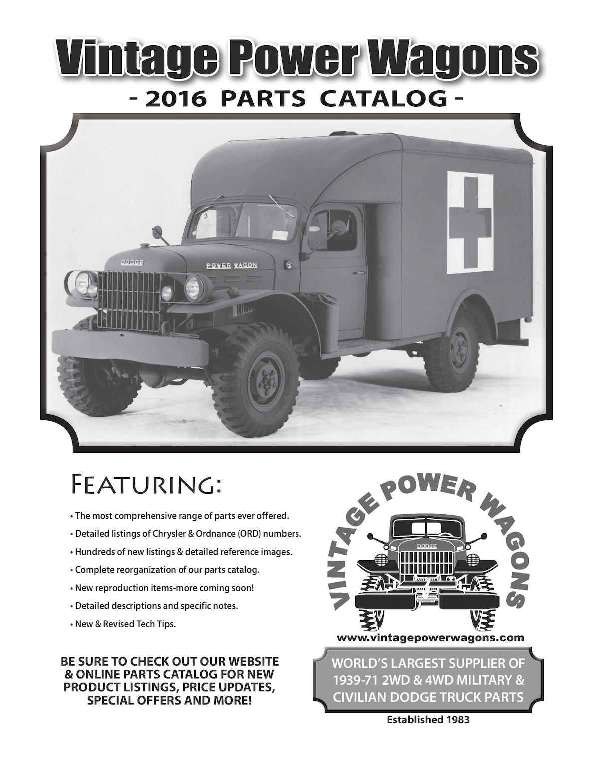 Calamo Complete 2016 Vintage Power Wagons Parts Catalog Club Car Carryall 272 Wiring Diagram