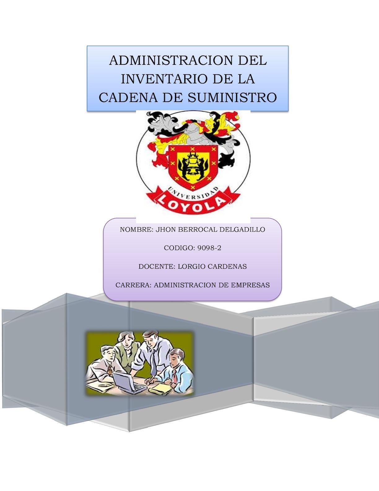 Calaméo - Administración Del Inventario De La Cadena De Suministro
